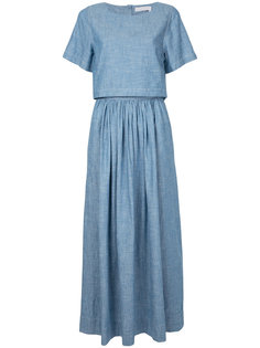 миди платье с пуговичной планкой сзади Chloé
