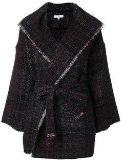 пальто в клетку с необработанными краями Iro