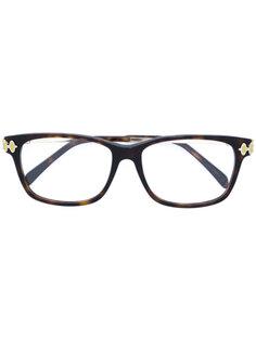 очки с узором черепашьего панциря  Emilio Pucci