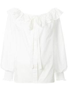 блузка с оборкой и завязкой  Marc Jacobs
