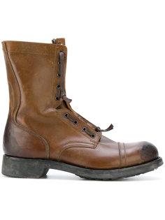 высокие ботинки на шнуровке Maison Margiela