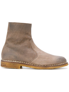 высокие ботинки с фактурной выделкой Maison Margiela