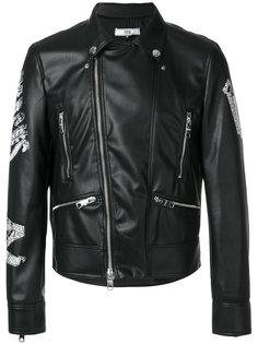 байкерская куртка с вышитым логотипом Versus