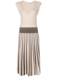 плиссированное платье Agnona