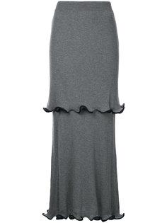юбка длины миди с оборками Stella McCartney