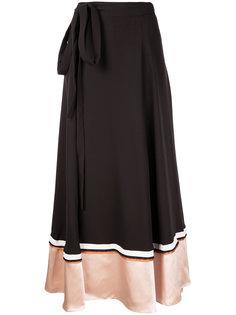 пышная юбка со вставкой  Roksanda
