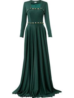 платье с квадратным вырезом и пуговицами  Alexis Mabille