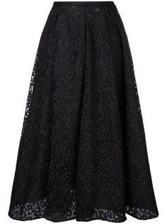 кружевная юбка миди  Rochas
