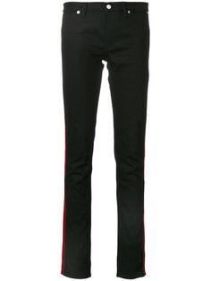 облегающие джинсы с полосками Givenchy