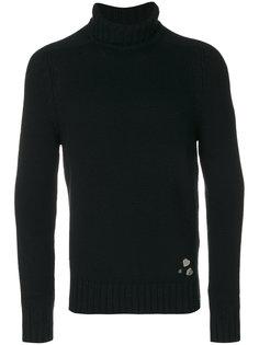 свитер с сердцами Saint Laurent