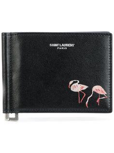 кошелек с фламинго Saint Laurent