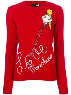 свитер с надписью Love Moschino
