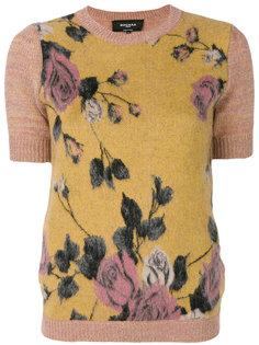 блузка с розами Rochas