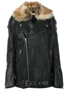 кожаная куртка с отделкой из искусственного меха Faith Connexion