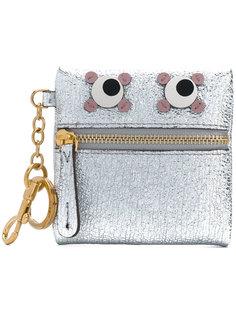 металлизированный кошелек для мелочи Eyes Anya Hindmarch