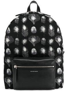 рюкзак с павлиньими перьями Alexander McQueen