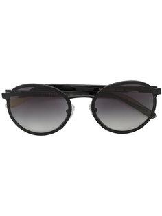 круглые солнцезащитные очки с эффектом черепашьего панциря Blyszak