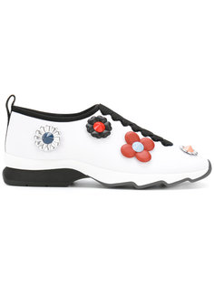 кроссовки с цветами Fendi
