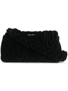 сумка на плечо с плетеным ремешком  Miu Miu
