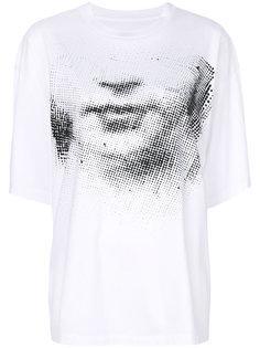 футболка с изображением лица Maison Margiela