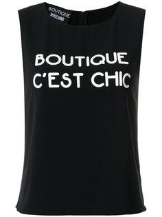 топ с принтом логотипа Boutique Moschino