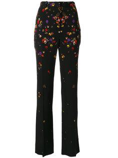 строгие брюки с цветами Givenchy