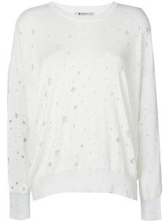 свитер свободного кроя с дырявым дизайном T By Alexander Wang