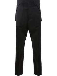 брюки-карго строгого кроя Rick Owens