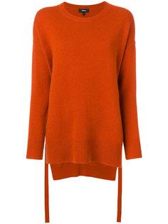 свободный свитер с круглым вырезом и разрезами  Theory