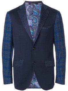 пиджак с деталями в клетку Etro
