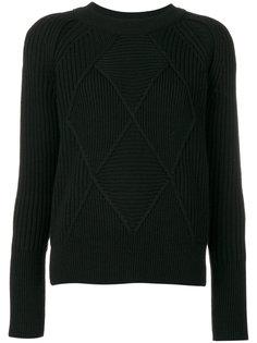 свитер с вязаным ромбовидным узором Kenzo