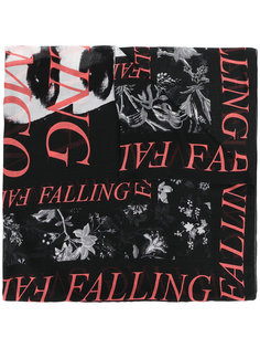 шарф с принтом слогана McQ Alexander McQueen