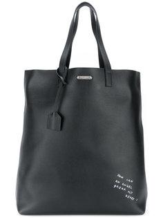 сумка-шоппер с принтом Saint Laurent