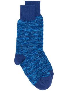 вязаные носки в рубчик Issey Miyake Men