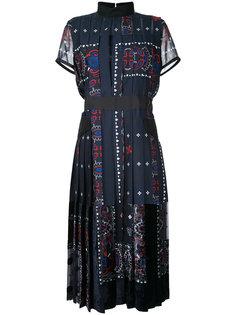 платье мили с плиссировкой Sacai