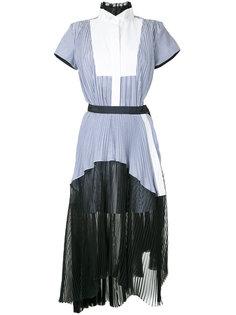 многослойное платье-рубашка  Sacai