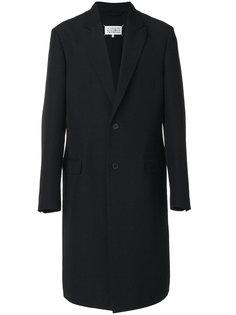 классическое однобортное пальто Maison Margiela
