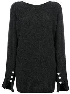 свитер с украшением из жемчуга на манжетах 3.1 Phillip Lim