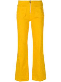 брюки с застежкой на молнию Tory Burch