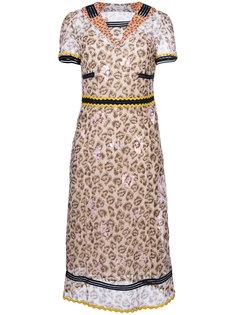 платье длины миди с леопардовым рисунком Coach