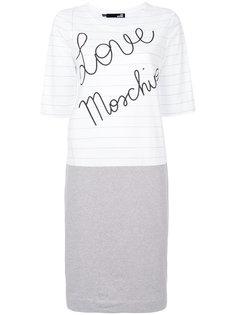 футболка в полоску с логотипом бренда Love Moschino