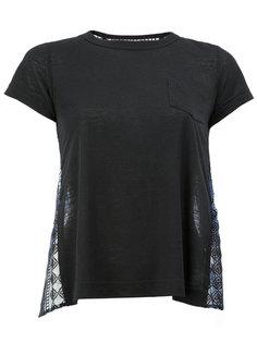 футболка с кружевной спинкой Sacai
