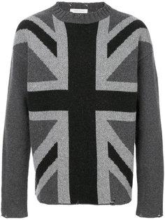 свитер с британским флагом Pierre Balmain