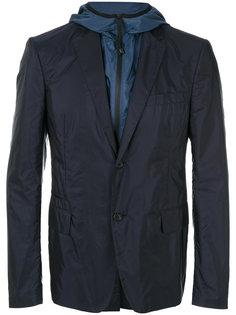 многослойная куртка с капюшоном Prada