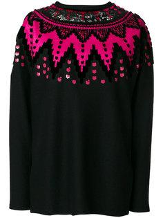 свитер с кружевной отделкой Ermanno Scervino