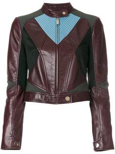 байкерская куртка с контрастными панелями Versace