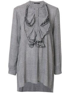 """блузка с нагрудником с узором """"гусиная лапка"""" Ermanno Scervino"""