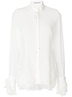 блузка с кружевными оборками Ermanno Scervino