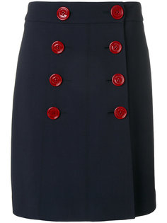 двубортная юбка Burberry