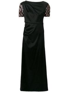 платье с украшением из бусин на рукавах Giorgio Armani
